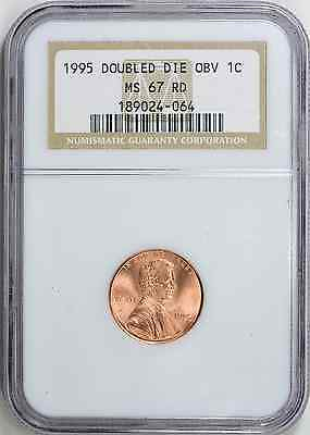 1995 Lincoln Cent DDO NGC MS-67 RD