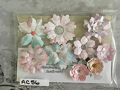 Gorgeous Assorted Packs of Handmade Paper Flower Embellishments  AC