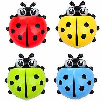"""5.5"""" LADYBUG Toothbrush / Whatever Caddy for Bath / Mirror Suction Cups included"""