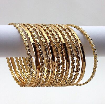 Indian Cutting Bangles Size:2.8 Asian Bridal Jewellery Ethnic Wear Gold Plated
