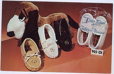 DEB DON children's moccains 1960s ADVERTISING CARD, unused