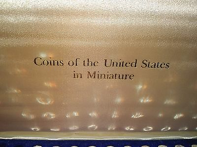 Vintage set of silver and copper United States Coins in Miniature - proof