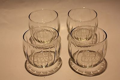 Kahlua Royal Cream Liqueur Glasses - Set of Four (4)