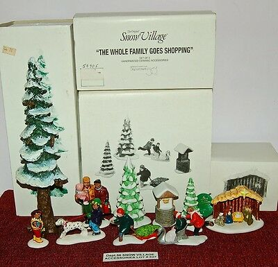 Dept.56 SNOW VILLAGE Accessories Lot#627 Special Great Deal In A Lot!