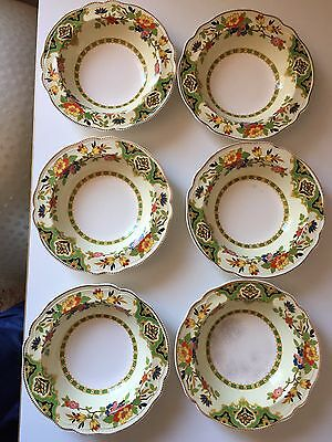 6 Old Staffordshire Johnson Bros England Bowls