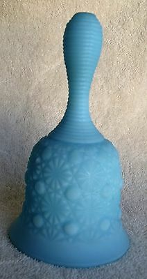 Blue Fenton Buttons And Bows Bell