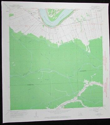 Lagan Louisiana Mississippi River Chegby vintage 1963 old USGS Topo chart