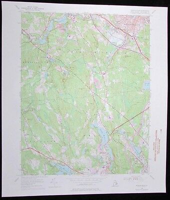 Georgiaville Rhode Island Woonsocket vintage 1976 old USGS Topo chart