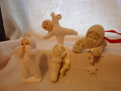 Collectible Christmas Snobabies Dept 56 Ormanents 4 Various