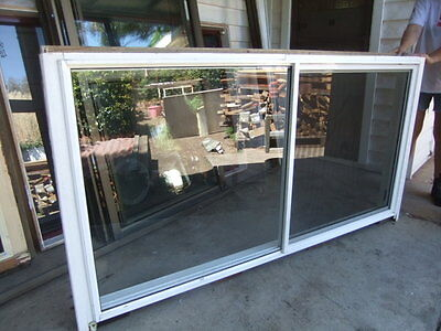 Double Aluminium Sliding Window 1945 wide x 990 high Timber Reveal Kitchen Shed