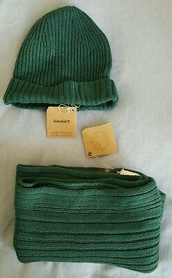 Timberland Mens Scarf and Beanie - Acrylic Gift Set
