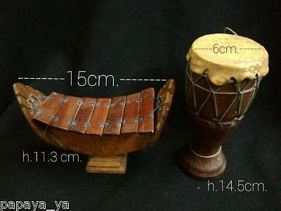 Antage Tradition Musical Instrument Klong Yao,ranat Ek  Mini Decoration Art.