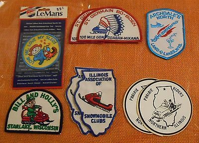 Lot Of Snowmobile Club Patches & Stickers (9 Pieces)