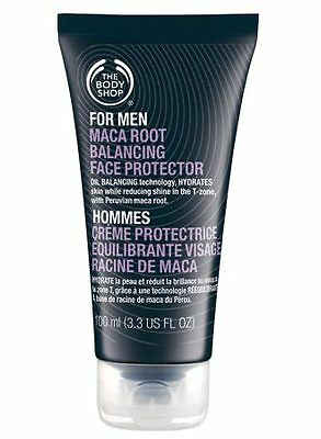 New Vegetarian The Body Shop Mens Facial Moisturizer Gel Cream Maca Root Extract