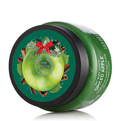 New The Body Shop Spiced Apple Exfoliating Sugar Body Scrub