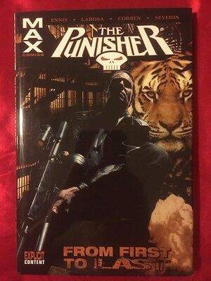 PUNISHER MAX FROM FIRST TO LAST 2006 1ST PRINT Marvel OVERSIZED DELUXE HARDCOVER
