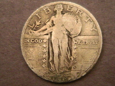 1928-S Standing Liberty Quarter! Free Shipping!