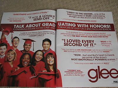 Glee  Graduating with Honors  2 page Emmy Ad  Cory Monteith as Finn