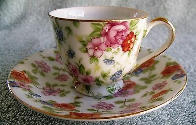 Occupied Japan Merit Demitasse Cup And Saucer Set