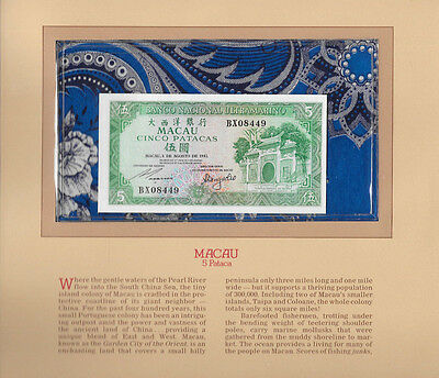 Most Treasured Banknotes Macau 1981 5 Patacas P58c GEM UNC BX08449