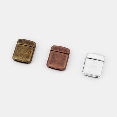 12mm Flat Magnetic Clasp, 12x2mm Flat Bracelet Clasps for Flat Leather Findings