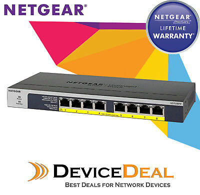 Netgear GS108PP ProSAFE 8 port POE/POE+ Gigabit Ethernet Unmanaged Switch