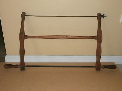 """ANTIQUE DOUBLE HANDLED BOW SAW 29""""Handle to Handle"""