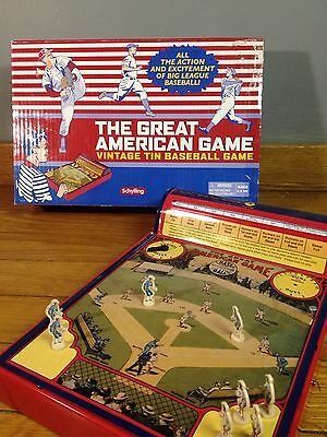 Schylling Vintage Tin Baseball The Great American Game Great Condition!