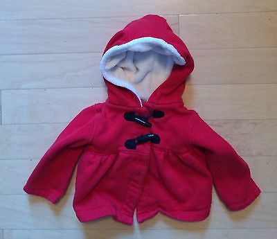 Carter's Red Coat Jacket 18m 18 months Girls Baby Toddler Toggle Buttons