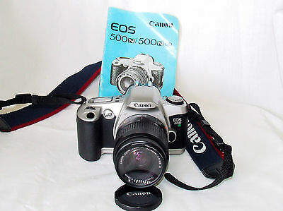 Canon EOS 500n 35mm Film Camera with a Canon 35-80mm Lens & Bag