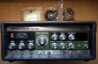 Vintage ROLAND RE-201 Space Echo Tape Delay w/original unused footswitch MINT
