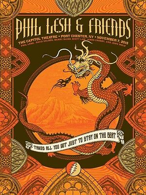 Phil Lesh And Friends - Capitol Theatre - Gd 50Th -  2015 -Justin Helton -Poster