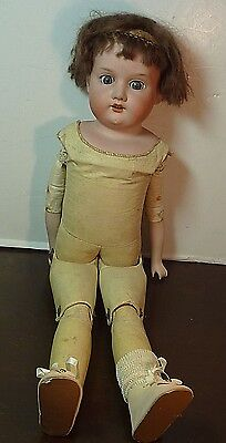 """20"""" Armand Marseille 370 DEP Bisque Head Doll Kid Body Made in Germany"""