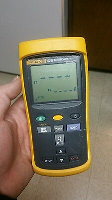 Fluke 52 II 52-2 Digital Thermometer Works Perfectly (Small Crack on Screen)