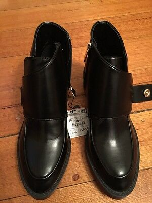 Zara ankle boots size 38 black Brand New With Tags RRP$119