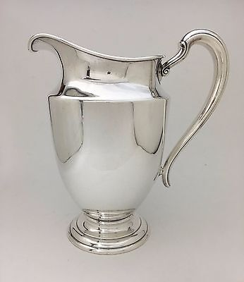 """Magnificent INTERNATIONAL STERLING SILVER WATER PITCHER No Mono 592 GR 10"""" Tall"""