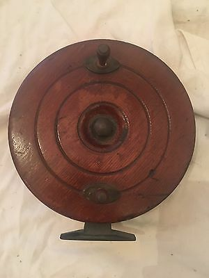 Vintage Timber Fishing Reel