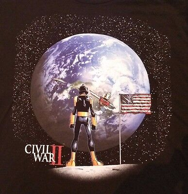 Small Marvel Civil War 2 Nova Corps T-Shirt Small New Marvel Black Welovefine