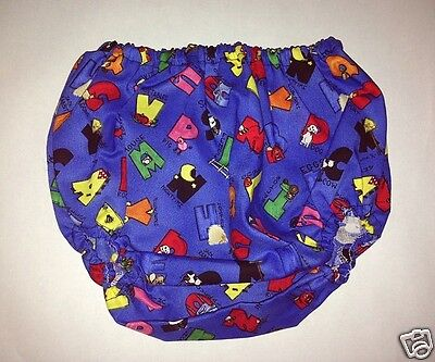 """New Genuine Tuff Tushies Nappy Cover """"Daddy's Helper"""" design. Size 6-12 mths"""