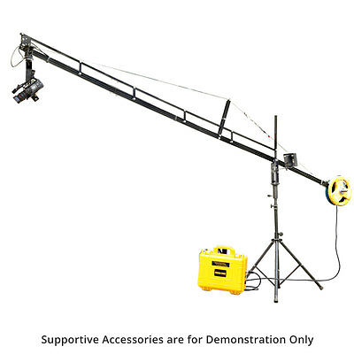 Proaim DSLR DV 14ft Camera Jib Crane Tripod Stand Jr. Pan Tilt Head + Power Pack