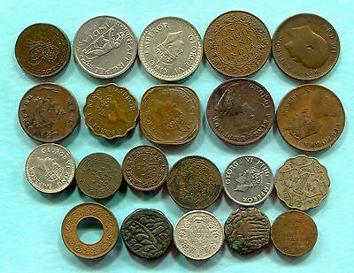 21 British India/India Native States Coins  -  1800's-1947