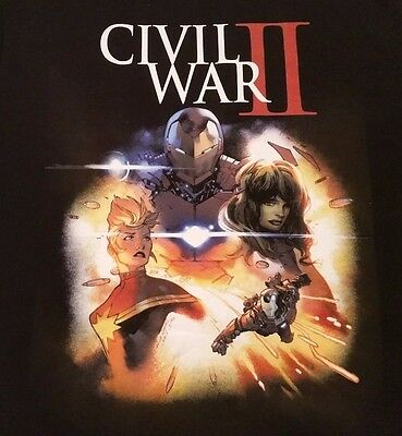 Small Marvel Civil War 2 Iron Man T-Shirt Small New Marvel Black Welovefine