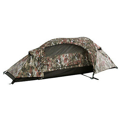 Multitarn RECOM camouflage Outdoor one person tent Einmannzelt Army Tarn Zelt