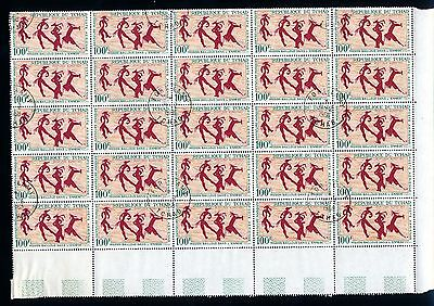 Chad 1967 Sheet of 25 stamps 100 francs Rock Paintings