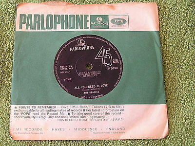 The Beatles – All you need is Love - Rarest issue - nr mint condition -  listen
