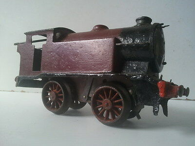 Vintage CLOCKWORK METAL TRAIN - 16.5CM Long - Parts or Repair - Hornby O Gauge