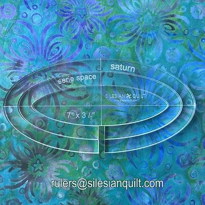 """Template für Quilting: Template Saturn 7"""" - 3 rings"""