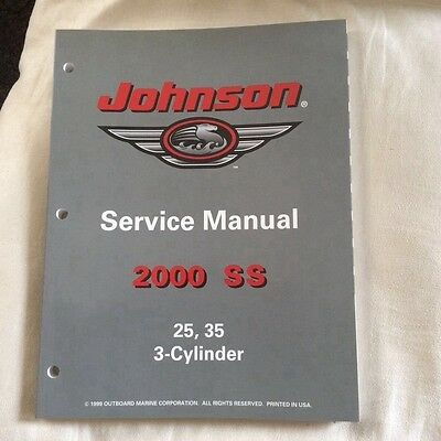 Johnson service manual SS (2000), 25 and  35 hp,   3-cylinder