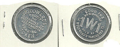Woodward's Profit Sharing Vancouver, British Columbia Trade Token