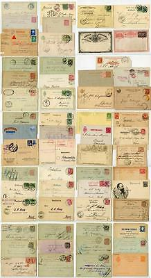 World Stationery and a few Covers (Mostly Earlier Europe). 57 Pieces. Many Scans
